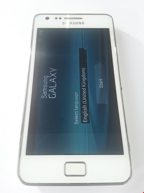 Lot 21 SAMSUNG GALAXY S2 I9100 WHITE MOBILE PHONE