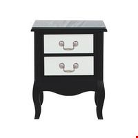 Lot 154 BOXED NEW ELYEE 2 DRAWER BEDSIDE CABINET IN WHITE  RRP £169.00