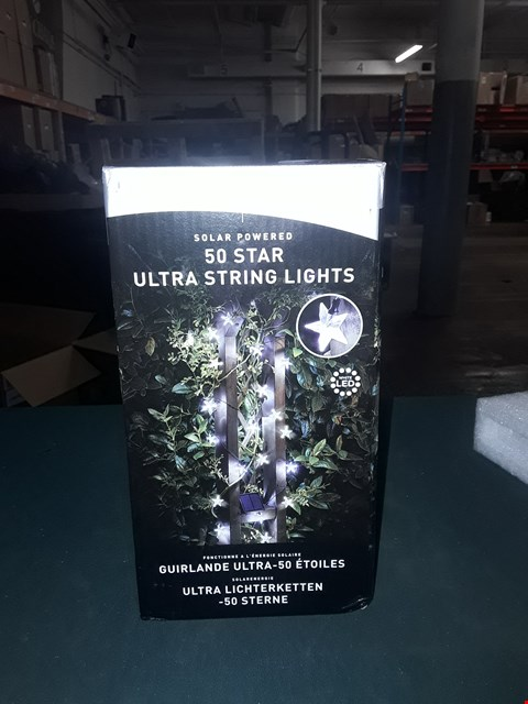 Lot 7036 BOXED SUPER BRIGHT SOLAR POWERED 50 STAR ULTRA STRING LIGHTS