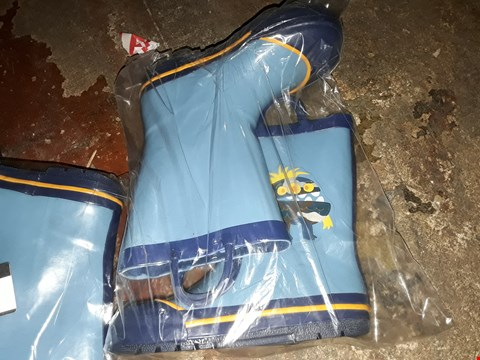 Lot 483 MONSTER DESIGN DISNEY KIDS WELLINGTONS WITH HANDLES BOYS BLUE SIZE UNSPECIFIED  RRP £17.99