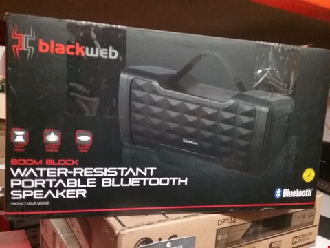 Lot 1097 BLACKWEB BOOM BL9CK WATER-RESISTANT PORTABLE BLUETOOTH SPEAKER