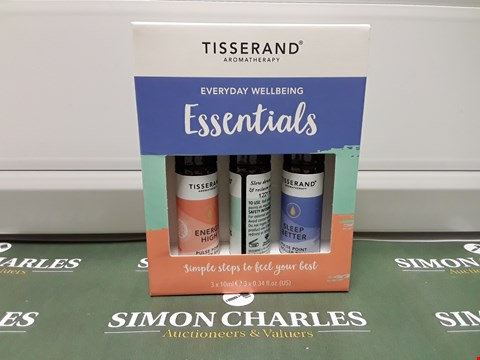 Lot 183 BOXED TISSERAND AROMATHERAPY EVERYDAY WELLBEING ESSENTIALS