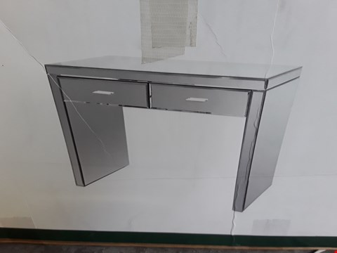 Lot 249 DESIGNER BOXED MIRRORED 2 DRAWER CONSOLE TABLE