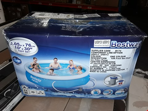 Lot 3745 BESTWAY 10FT POOL FAST SET BLUE RRP £169.00