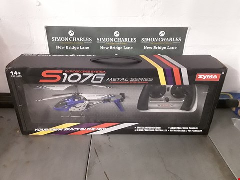 Lot 580 BOXED SYMA S107G METAL SERIES INFRARED RC MINI HELICOPTER