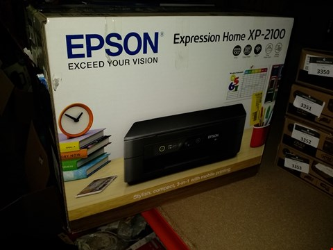 Lot 3354 EPSON EXPRESSION HOME XP-2100 WIFI ENABLED COLOUR PRINTER