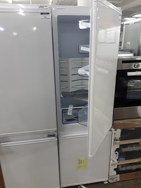 Lot 405 BEKO ICQFD173 WHITE INTEGRATED FRIDGE FREEZER