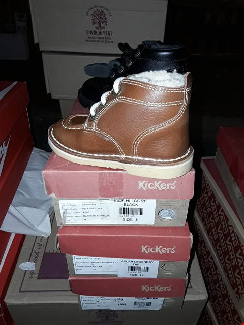 Lot 2049 LOT OF 3 ASSORTED BRAND NEW KIDS KICKERS SHOES ASSORTED SIZES  RRP £90