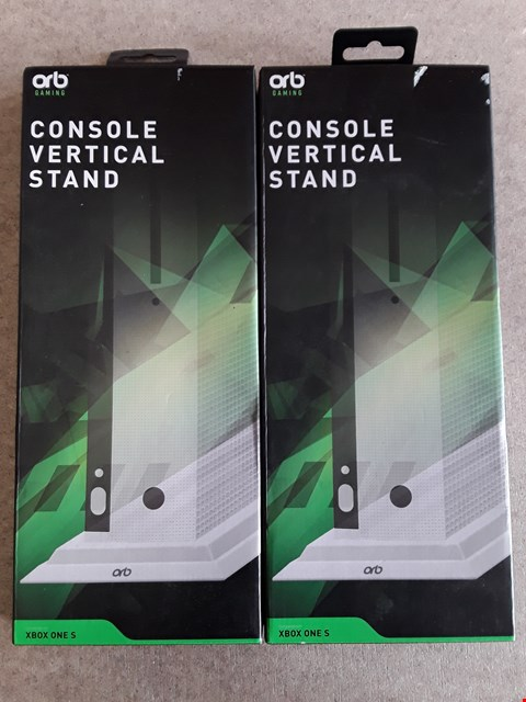 Lot 121 LOT OF 2 BRAND NEW ORB XBOX ONE S CONSOLE VERTICAL STANDS