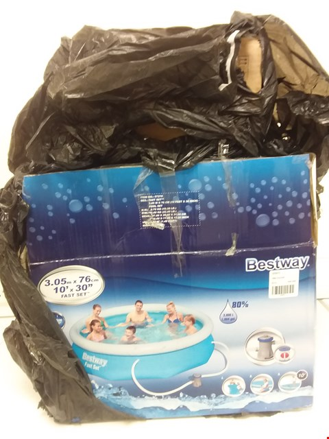 Lot 9101 BESTWAY 10FT POOL FAST SET BLUE RRP £169.00