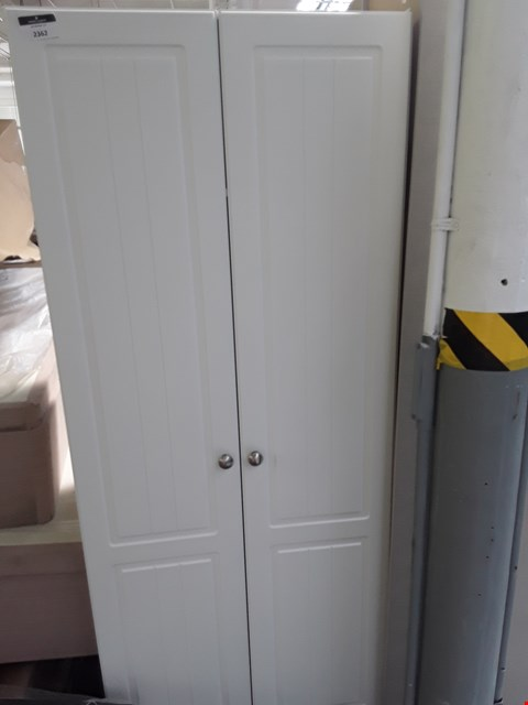 Lot 7069 DESIGNER WHITE DOUBLE DOOR WARDROBE