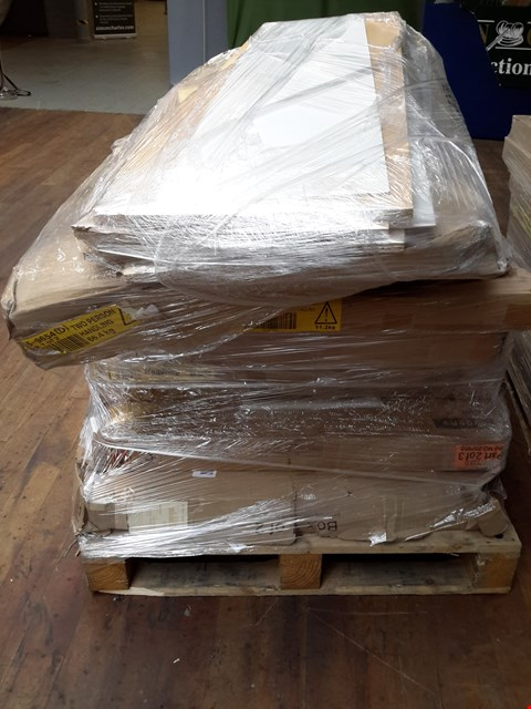 Lot 553 PALLET OF ASSORTED FLAT PACK FURNITURE PARTS (BOXED)