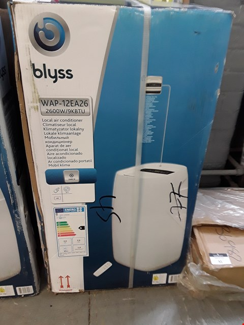 Lot 49 BOXED BLYSS WAP-12EA26 LOCAL AIR CONDITIONER RRP £256.00