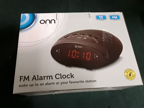 Lot 1237 BOXED ONN FM ALARM CLOCK