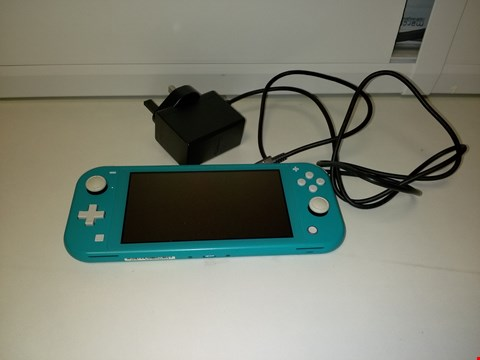 Lot 2171 UNBOXED NINTENDO SWITCH LITE TURQUOISE CONSOLE RRP £259.99
