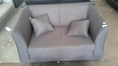 Lot 11 DESIGNER CHARCOAL GREY 2 SEATER SOFA WITH SCATTER CUSHIONS