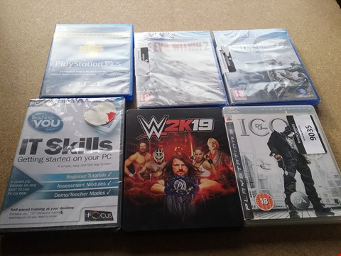 Lot 9035 6 ASSORTED BRAND NEW ITEMS TO INCLUDE A THE EVIL WITHIN 2 GAME FOR PS4 AND A RAINBOWS SIEGE GAME FOR PS4