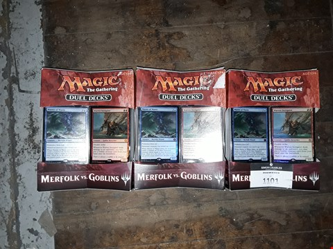 Lot 9026 3 BOXED BRAND NEW MAGIC THE GATHERING DUEL DECKS: MERFOLK VS GOBLINS