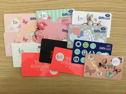 Lot 21 12 BOOTS GIFT CARDS.  TOTAL VALUE £300