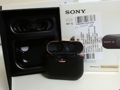 Lot 15055 SONY WF-1000XM3 TRULY WIRELESS NOISE CANCELLING HEADPHONES