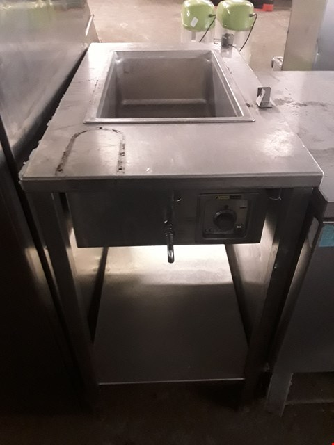 Lot 13535 COMMERCIAL STAINLESS STEEL FRANKE HOT FOOD TABLE