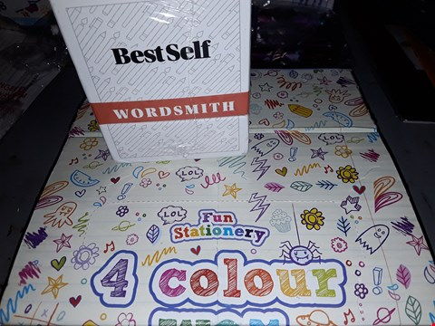 Lot 645 LOT OF TWO)  BOX OF FUN COLOUR WAX CRAYONS &BEST SELF WORD SMITH