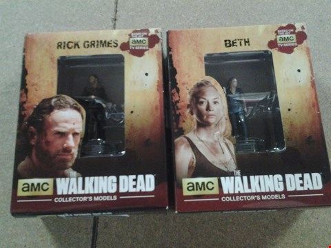 Lot 370 2 BOXED AMCS THE WALKING DEAD COLLECTORS MODELS TO INCLUDE; RICK GRIMES AND BETH