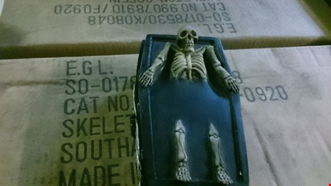 Lot 535 BOX OF 4 SKELETON  SKULL BOXES