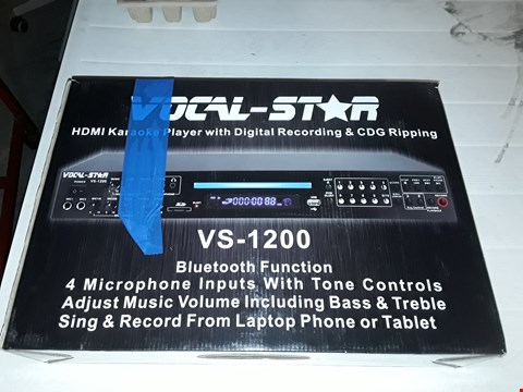 Lot 12674 VOCAL-STAR VS-1200 CDG DVD HD KARAOKE MACHINE