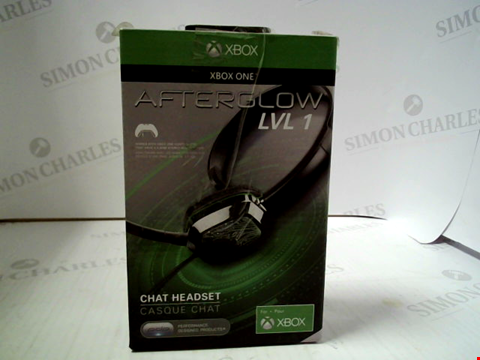 Lot 3110 XBOX ONE AFTERGLOW LVL 1 CHAT HEADSET
