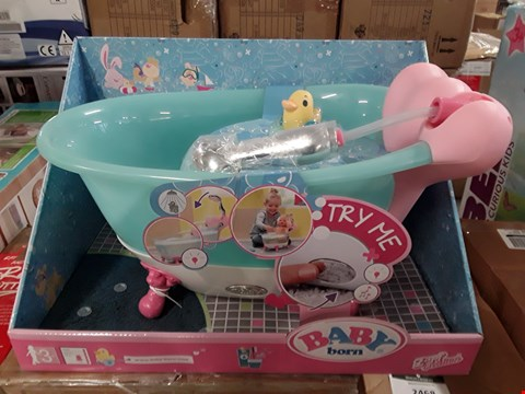 Lot 2461 BOXED GRADE 1 BABY BORN INTERACTIVE BATHTUB WITH FOAM RRP £63