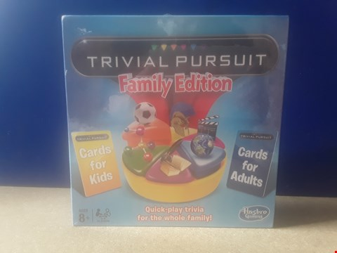 Lot 5018 CELLOPHANE-WRAPPED HASBRO GAMING TRIVIAL PURSUIT FAMILY EDITION