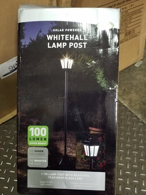 Lot 3542 WHITEHALL SOLAR POWERED LAMP POST  RRP £49.99