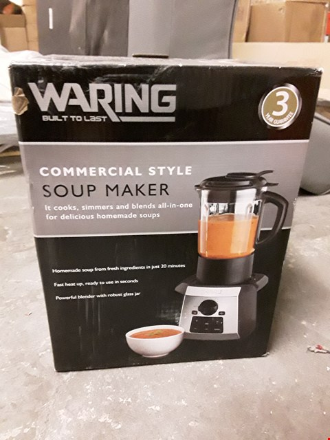 Lot 646 WARING COMMERCIAL STYLE SOUP MAKER