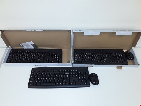 Lot 190 3 X ONN WIRELESS KEYBOARD AND MOUSE COMBO