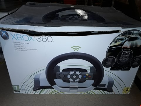 Lot 1080 WIRELESS RACING WHEEL FOR XBOX 360
