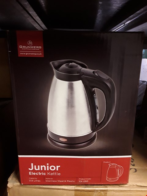 Lot 15135 FOUR BOXED JUNIOR 0.8L ELECTRIC KETTLES