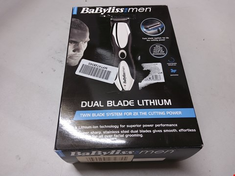 Lot 1147 BOXED BABYLISS DUAL BLADE LITHIUM