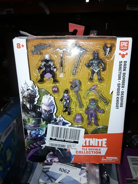 Lot 4066 FORTNITE BATTLE ROYALE COLLECTION: SQUAD PACK - 4 FORTNITE BATTLE ROYALE COLLECTION FIGURES - DEADFIRE, SANCTUM, SPIDER KNIGHT, DARK BOMBER RRP £10.99
