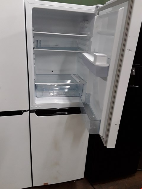 Lot 12057 HI-SENSE RB320D4WW1 50/50 FRIDGE FREEZER WITH WATER DISPENSER IN WHITE