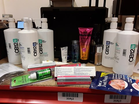 Lot 9045 TRAY OF APPROXIMATELY 24 ASSORTED BEAUTY ITEMS INCLUDING, CB13 BREATH FRESHENERS, DETOX FOOT PATCH, MARK HALL KERASATIN SHAMPOO, TEA TREE OIL,  (TRAY NOT INCLUDED)