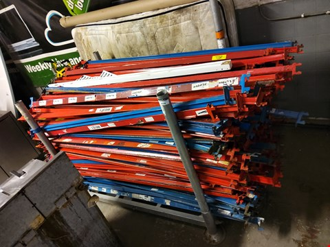 Lot 9548 LARGE QUANTITY OF RACKING BEAMS (PALLET NOT INCLUDED)