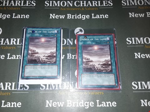 Lot 754 LOT OF 2 ASSORTED MAGIC THE GATHERING DEMISE OF THE LAND SPELL CARDS