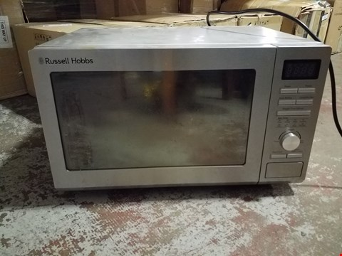 Lot 275 RUSSELL HOBBS FAMILY SIZE SILVER MICROWAVE