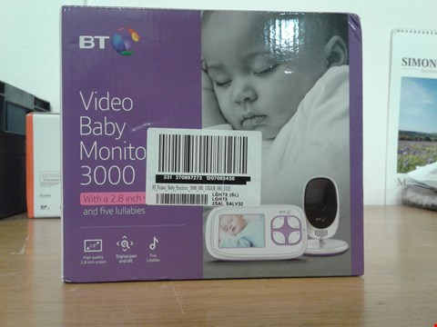 Lot 2047 BT VIDEO BABY MONITOR 3000 RRP £100