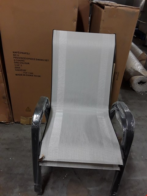 Lot 7320 BOXED SET OF 6 PROVINCE 8PC DINING SET CHAIRS (BOX 3OF3 ONLY)