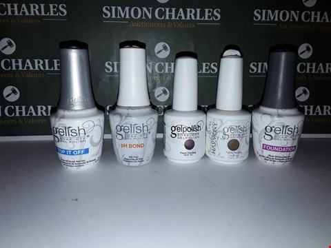 Lot 47 LOT OF 5 ASSORTED GEL POLISH PRODUCTS