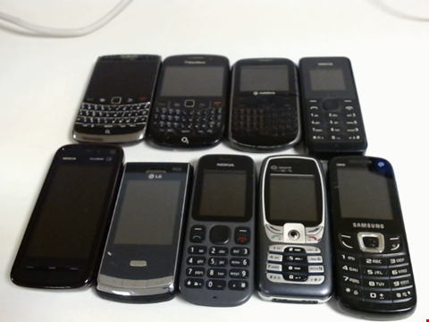 Lot 5128 LOT OF 9 ASSORTED MOBILE PHONES AND SMARTPHONES ETC
