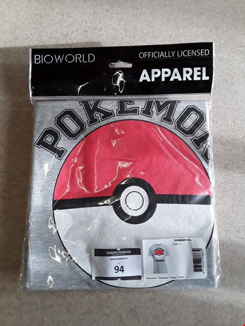 Lot 94 BRAND NEW POKEMON OFFICIALLY LICENSED T-SHIRT L