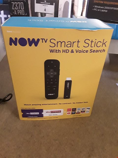 Lot 7 BOXED NOW TV SMART STICK WITH HD & VOICE SEARCH